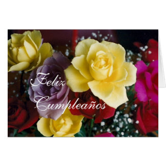 Spanish Birthday bouquet Cumpleaños Cards