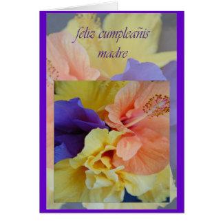 Spanish Birthday Card For Mom