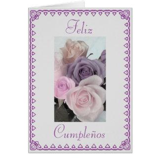 Spanish: Birthday Cumpleanos Greeting Card
