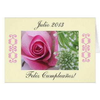 Spanish: Birthday/Cumpleaños Greeting Card