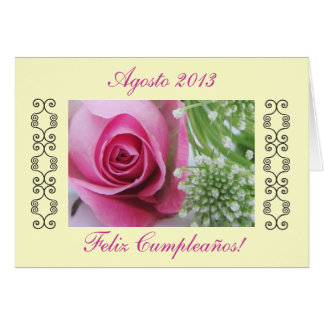 Spanish: Birthday/Cumpleaños Greeting Card