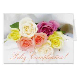 Spanish: Birthday Cumpleanos wht Greeting Card