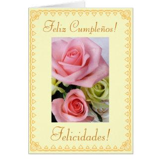 Spanish: Birthday Feliz Cumpleanos Greeting Card