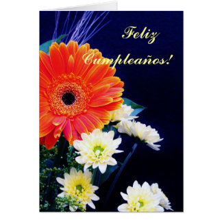 Spanish: Birthday/Feliz cumpleanos! Greeting Card