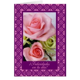 Spanish: Birthday: feliz cumpleanos! Greeting Card