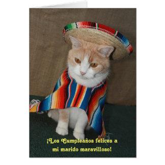 Spanish Birthday for husband Greeting Card