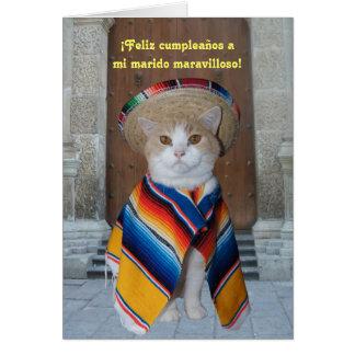 Spanish Birthday for Husband or Boyfriend Greeting Cards