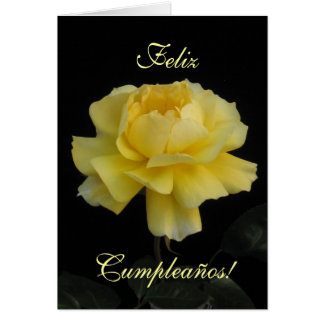 Spanish: birthday rose/ Cumpleanos, rosa Greeting Card