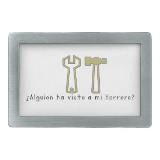 Spanish-Blacksmith Rectangular Belt Buckles