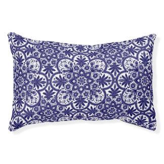 Spanish Blue Flower Dog Bed