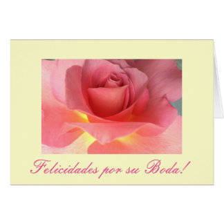 Spanish: Boda/ wedding : Felicidades Card