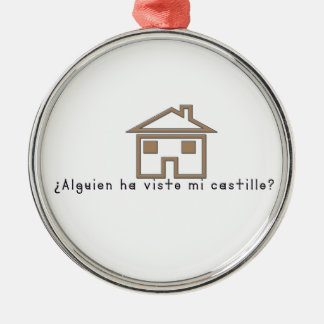 Spanish-Castle Metal Ornament