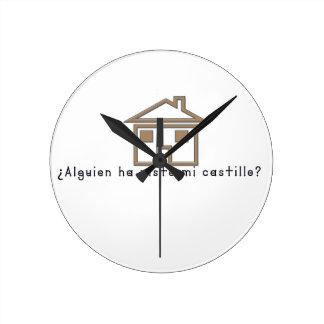 Spanish-Castle Round Clock