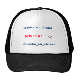 Spanish/Chinese HTML that Defines America (Murika) Trucker Hat