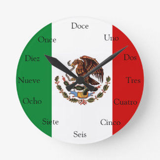 Spanish Clock with Mexican Flag