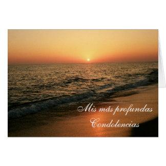 Spanish: Condolencias Card