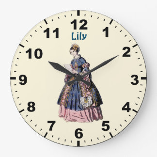 ~ SPANISH COSTUME ~ Personalised for LILY ~ Large Clock