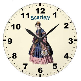 ~ SPANISH COSTUME ~ Personalised for SCARLETT ~ Large Clock