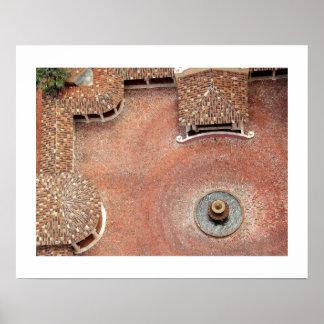 Spanish Courtyard Poster