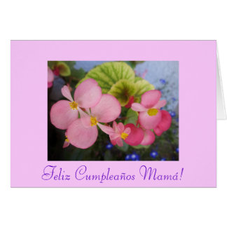 Spanish: Cumpleanos de mami - Mom's Birthday Greeting Card