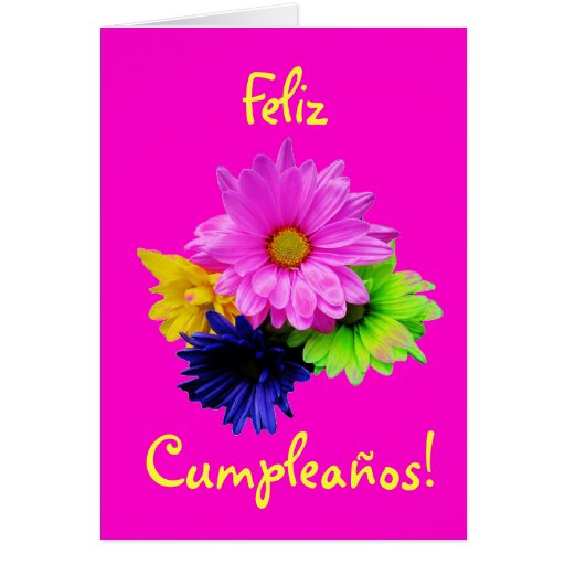Spanish: Cumpleanos! margaritas neon (birthday) Card