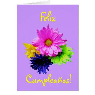 Spanish: Cumpleanos! margaritas neon (birthday) Greeting Card