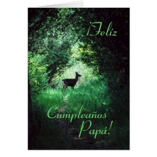 Spanish: Cumpleaños Papá / Dad's Birthday Greeting Card