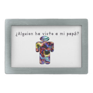 Spanish-Daddy Rectangular Belt Buckles