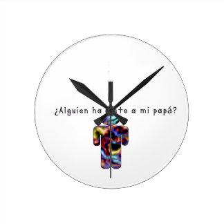 Spanish-Daddy Round Clock