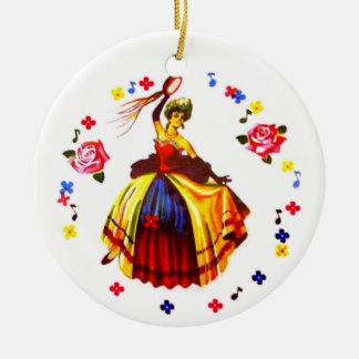 Spanish Dancer Ceramic Ornament