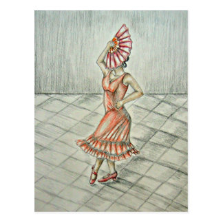 Spanish Dancer Postcard