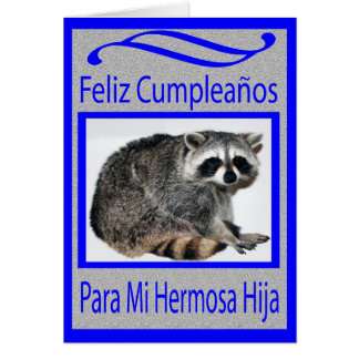 spanish daughter birthday greeting card