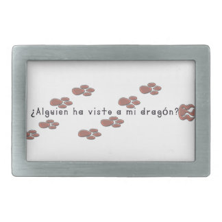 Spanish-Dragon Rectangular Belt Buckles