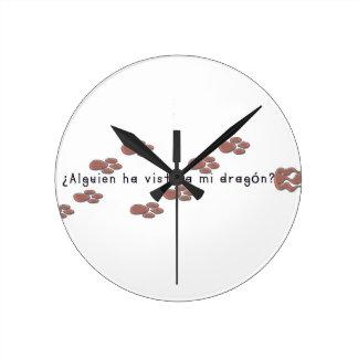 Spanish-Dragon Round Clock