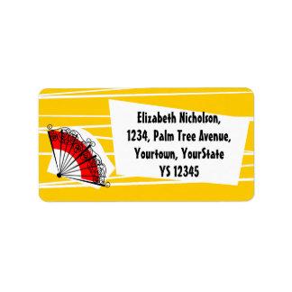Spanish Fan address label