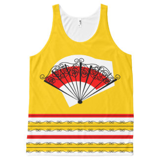 Spanish Fan and Stripes all over tank top