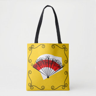 Spanish Fan Corners all over tote striped back