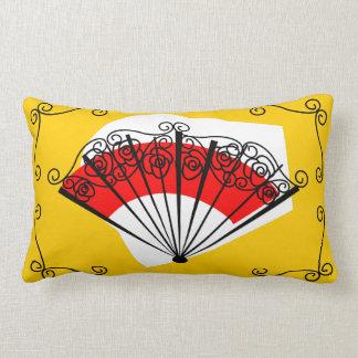 Spanish Fan corners red back pillow lumbar