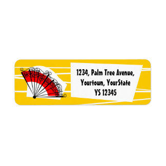 Spanish Fan return address label