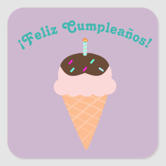 "Spanish ""Feliz cumpleaños,"" Happy Birthday Sticker"