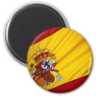 Spanish Flag 2 Inch Round Magnet