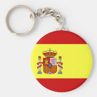 Spanish Flag Bandera Española Basic Round Button Keychain