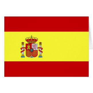 Spanish Flag Bandera Española Card
