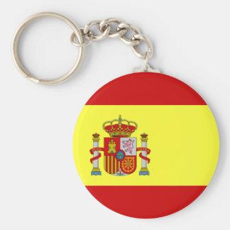 Spanish Flag Basic Round Button Keychain