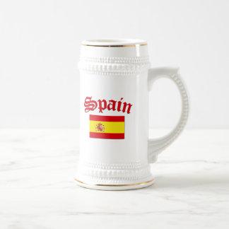 Spanish Flag Beer Stein
