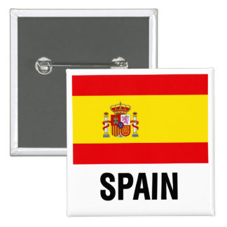 SPANISH FLAG PINBACK BUTTONS