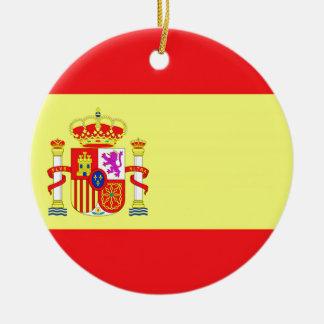Spanish Flag Ceramic Ornament