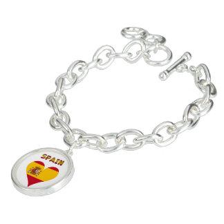Spanish flag charm bracelets