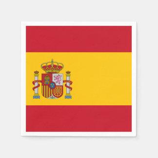 Spanish flag disposable napkins