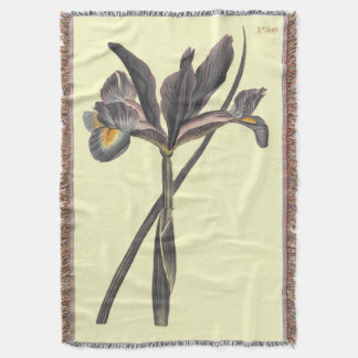 Spanish Flag Iris Illustration Throw